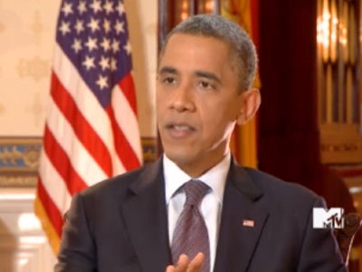 WATCH: Obama Talks Marriage Equality on MTV