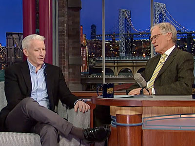 WATCH: Anderson Tells Letterman All About Being Gay