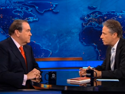 Mike Huckabee Tells Jon Stewart: No, Marriage Equality Voters Won't Go to Hell