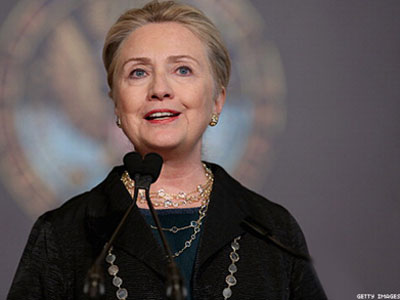 Clinton Hails Progress in Speech to LGBT State Department Employees