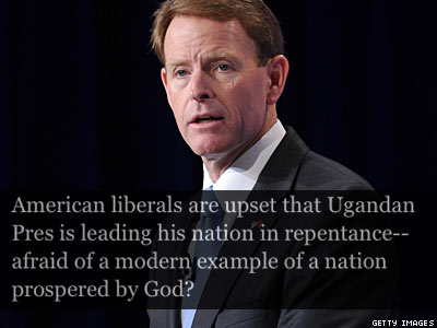 Uganda, Considering a Devastating Antigay Bill, Has Tony Perkins's Support