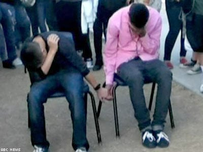 Boys Forced to Hold Hands at School as Punishment