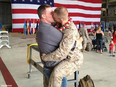 WATCH: Meet The Gay Marine Whose Homecoming Kiss Went Viral