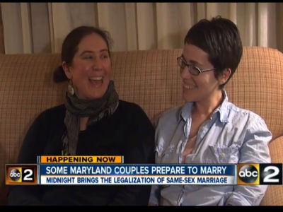 Maryland Rings in New Year With Marriage Equality