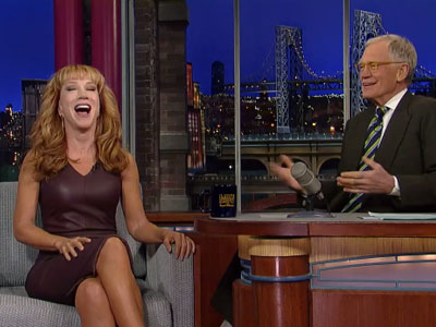 WATCH: Letterman Asks Kathy Griffin About Her New Year's Encounter With Anderson Cooper
