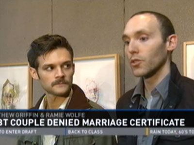 WATCH: Tennessee Couple Applies for Marriage License in Protest