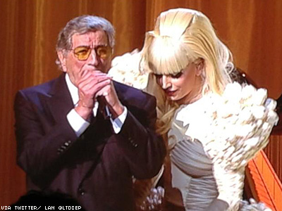 Gaga and Tony Bennett Perform for Obama Staffers