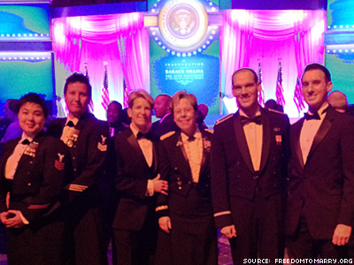Gay and Lesbian Soldiers Bring Same-Sex Partners to Inaugural Ball