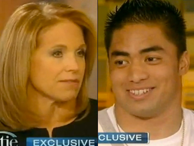 Katie Couric to Manti Te'o: 'Are You Gay?'