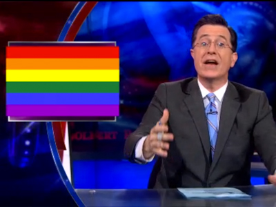 WATCH: Stephen Colbert Has a 'Word' for DOMA Defense