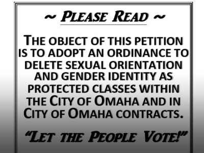 Drive for Repeal Vote on Omaha Nondiscrimination Law Falls Short