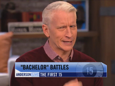 WATCH: Anderson Cooper Has His Suspicions About The Bachelor