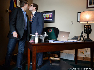 Gay Legislative Kiss Upsets Denver Post Readers