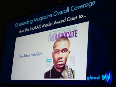 The Advocate, Out Take Home GLAAD Award