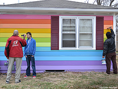 Nonprofit Unveils Rainbow House Beside Westboro Baptist Church