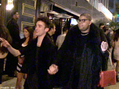 Magic Johnson's Son Hits Sunset Strip With Friend