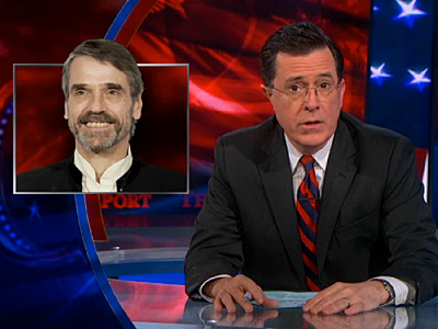 WATCH: Stephen Colbert Riffs on Jeremy Irons and Marriage Equality