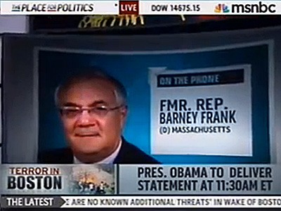 Barney Frank Praises Boston's Response, Accused of Politicizing It