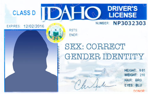Idaho Revises Requirements for Gender Markers on Driver's Licenses