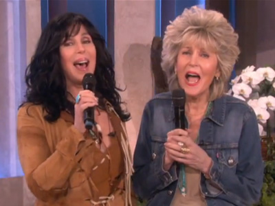 WATCH: Cher and Her Mother Sing on Ellen