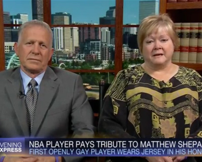 Matthew Shepard's Mom Moved to Tears by Jason Collins's Gesture