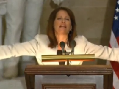 WATCH: Bachmann Links Gay Rights to 9/11 in 'Pray Day' Push