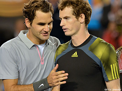 Tennis Pros Federer, Murry Say Gay Players Would Be No Problem
