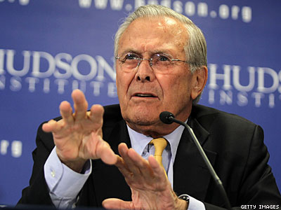 Donald Rumsfeld Isn't Sure, But Marriage Equality Might Lead to Polygamy