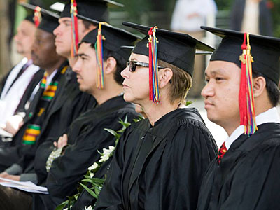 Theological School Grads Show Support With Rainbow Tassels