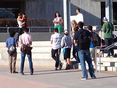 WATCH: Gay Kiss Silences Antigay Preacher on Campus