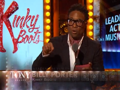 Billy Porter Wins Tony for Kinky Boots, Thanks Accepting Christian Mom