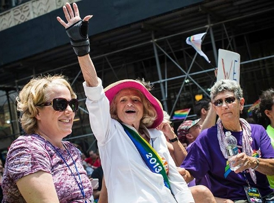 WATCH: Edie Windsor Roll Through NYC Pride