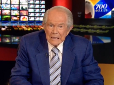 WATCH: Pat Robertson Wants a Facebook 'Vomit' Button