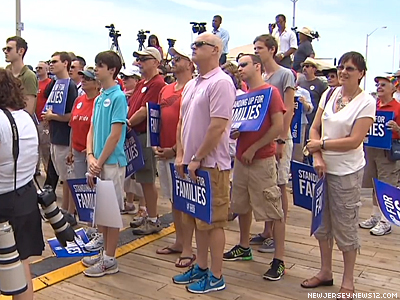Group Holds Launch Rally For New Jersey Marriage Equality