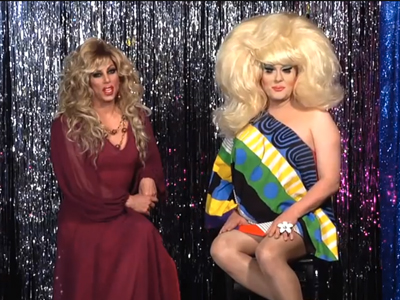 WATCH: Sherry Vine Gets Hopped Up with Lady Bunny