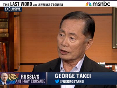 WATCH: George Takei Says Russian Olympics a 'Situation of Good vs. Evil'