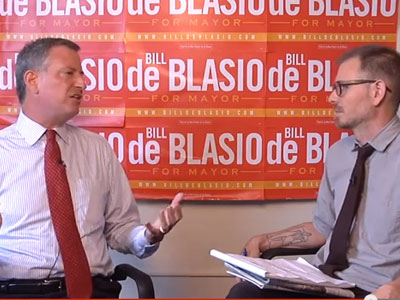 Interview: Mayoral Candidate Bill de Blasio on NYC's Hate Crimes