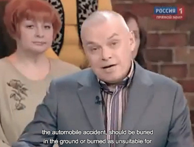Russian News Anchor: Gay Hearts Should Be Burned
