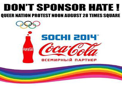 LGBT Organization Plans Protest of Coca Cola Olympic Sponsorship