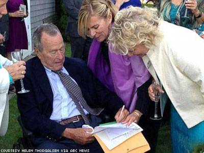 George H.W. Bush Is Official Witness to Lesbian Wedding