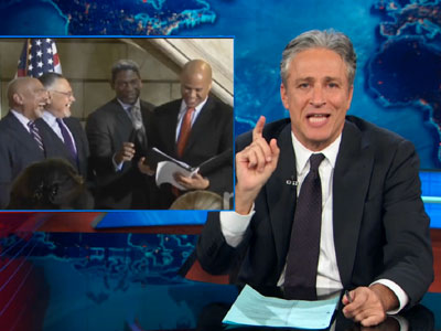 WATCH: Jon Stewart Celebrates Marriage Equality in 'The Newark Normal'