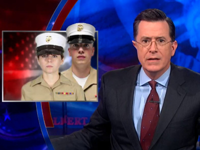 WATCH: Stephen Colbert Enraged by 'Girly' Marine Hats