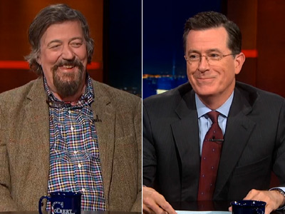 WATCH: Colbert, Stephen Fry Talk Hobbits, Marriage, and Bullying