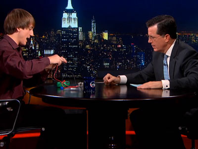 Stephen Colbert Gushes Over Gay Teen Science Prodigy