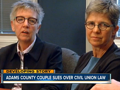 Lesbian Couple Sues for Marriage Equality in Colorado