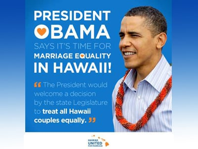 Obama Urges Hawaii to Pass Marriage Equality