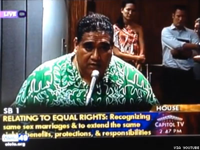 WATCH: You'd Have to Kill Me Before I'll Enforce Marriage Equality, Says Hawaii Police Union President