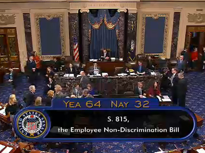 In Historic First, Senate Approves ENDA