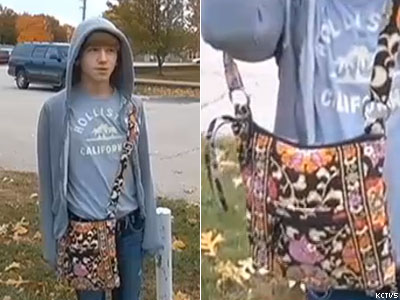 WATCH: Kansas Teen Suspended for Carrying Purse