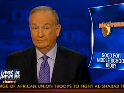 WATCH: Bill O'Reilly Compares Inclusive Locker Rooms to Kids at Hooters